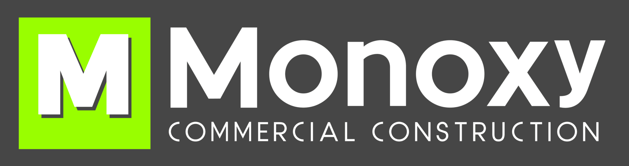 Monoxy Commercial Construction Logo